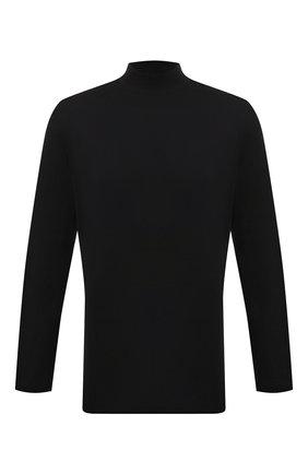 Мужской хлопковая водолазка Y-3 черного цвета, арт. GK4497/M | Фото 1 (Материал внешний: Хлопок; Рукава: Длинные; Длина (для топов): Удлиненные; Мужское Кросс-КТ: Водолазка-одежда; Стили: Минимализм; Принт: Без принта)
