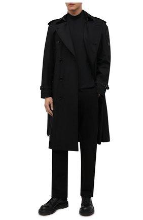 Мужской хлопковая водолазка Y-3 черного цвета, арт. GK4497/M | Фото 2 (Материал внешний: Хлопок; Рукава: Длинные; Длина (для топов): Удлиненные; Мужское Кросс-КТ: Водолазка-одежда; Стили: Минимализм; Принт: Без принта)
