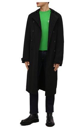 Мужская хлопковая футболка 2 moncler 1952 MONCLER GENIUS зеленого цвета, арт. G2-092-8C000-05-829FB | Фото 2 (Рукава: Короткие; Материал внешний: Хлопок; Длина (для топов): Стандартные; Принт: Без принта; Стили: Гранж)