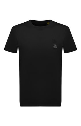 Мужская хлопковая футболка 2 moncler 1952 MONCLER GENIUS черного цвета, арт. G2-092-8C000-05-829FB | Фото 1 (Материал внешний: Хлопок; Принт: Без принта; Рукава: Короткие; Стили: Гранж; Длина (для топов): Стандартные)