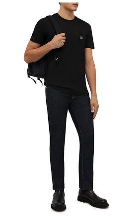 Мужская хлопковая футболка 2 moncler 1952 MONCLER GENIUS черного цвета, арт. G2-092-8C000-05-829FB | Фото 2 (Материал внешний: Хлопок; Принт: Без принта; Рукава: Короткие; Стили: Гранж; Длина (для топов): Стандартные)