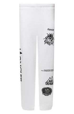 Мужские хлопковые джоггеры 2 moncler 1952 MONCLER GENIUS белого цвета, арт. G2-092-8H000-07-809KX | Фото 1 (Силуэт М (брюки): Джоггеры; Мужское Кросс-КТ: Брюки-трикотаж; Стили: Гранж, Спорт-шик; Материал внешний: Хлопок)