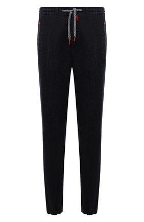 Мужские джинсы KITON темно-синего цвета, арт. UFPPZ/J0336A   Фото 1 (Длина (брюки, джинсы): Стандартные; Материал внешний: Хлопок; Кросс-КТ: Деним; Силуэт М (брюки): Прямые; Стили: Кэжуэл)