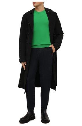 Мужские джинсы KITON темно-синего цвета, арт. UFPPZ/J0336A   Фото 2 (Длина (брюки, джинсы): Стандартные; Материал внешний: Хлопок; Кросс-КТ: Деним; Силуэт М (брюки): Прямые; Стили: Кэжуэл)