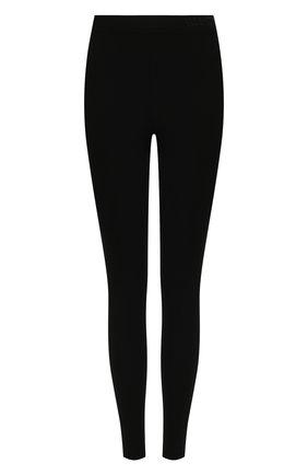Женские леггинсы из вискозы VALENTINO черного цвета, арт. WB0MD03M6SR   Фото 1 (Длина (брюки, джинсы): Стандартные; Материал внешний: Вискоза; Стили: Кэжуэл; Женское Кросс-КТ: Леггинсы-одежда)