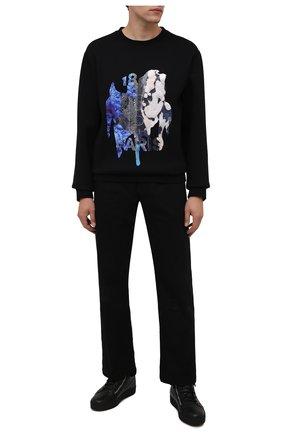 Мужские кожаные кеды kriss GIUSEPPE ZANOTTI DESIGN черного цвета, арт. RU10000/001 | Фото 2 (Материал утеплителя: Натуральный мех; Подошва: Массивная)