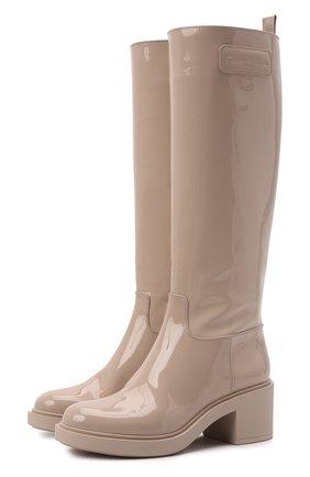 Женские кожаные сапоги GIANVITO ROSSI кремвого цвета, арт. G80375.45G0M.VFCM0MS   Фото 1 (Подошва: Платформа; Каблук высота: Средний; Высота голенища: Средние; Материал внутренний: Натуральная кожа; Каблук тип: Устойчивый)