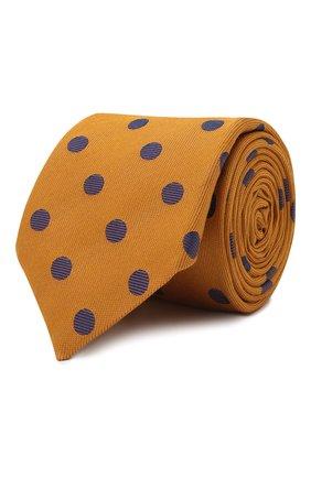 Мужской галстук из шелка и шерсти ETON оранжевого цвета, арт. A000 33139 | Фото 1 (Материал: Текстиль, Шелк, Шерсть; Принт: С принтом)