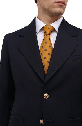 Мужской галстук из шелка и шерсти ETON оранжевого цвета, арт. A000 33139 | Фото 2 (Материал: Текстиль, Шелк, Шерсть; Принт: С принтом)