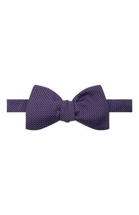 Мужской шелковый галстук-бабочка ETON фиолетового цвета, арт. A000 33127   Фото 1 (Материал: Текстиль, Шелк)
