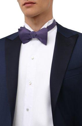 Мужской шелковый галстук-бабочка ETON фиолетового цвета, арт. A000 33127   Фото 2 (Материал: Текстиль, Шелк)
