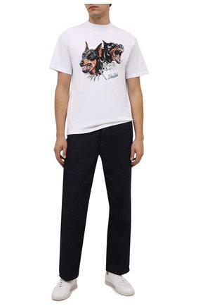 Мужская хлопковая футболка DOMREBEL белого цвета, арт. MPUPS/B0X T | Фото 2 (Материал внешний: Хлопок; Принт: С принтом; Рукава: Короткие; Стили: Гранж; Длина (для топов): Стандартные)