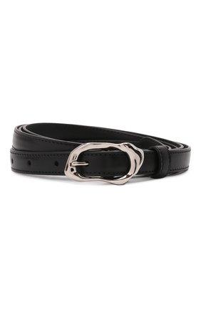 Женский кожаный ремень ALEXANDER MCQUEEN черного цвета, арт. 678959/1BR0Y | Фото 1 (Кросс-КТ: Тонкие)