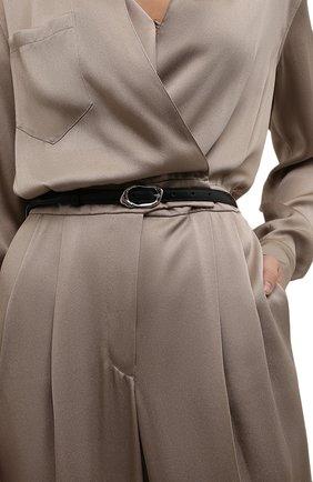 Женский кожаный ремень ALEXANDER MCQUEEN черного цвета, арт. 678959/1BR0Y | Фото 2 (Кросс-КТ: Тонкие)