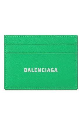 Мужской кожаный футляр для кредитных карт BALENCIAGA зеленого цвета, арт. 594309/1IZI3 | Фото 1