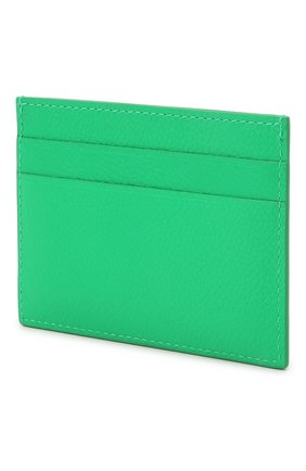 Мужской кожаный футляр для кредитных карт BALENCIAGA зеленого цвета, арт. 594309/1IZI3 | Фото 2