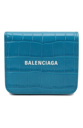 Женские кожаное портмоне BALENCIAGA синего цвета, арт. 594216/1LRR3 | Фото 1