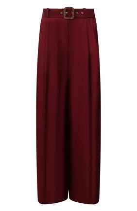 Женские шелковые брюки ZIMMERMANN бордового цвета, арт. 2143PC0N   Фото 1 (Длина (брюки, джинсы): Стандартные; Материал внешний: Шелк; Стили: Гламурный; Женское Кросс-КТ: Брюки-одежда; Силуэт Ж (брюки и джинсы): Широкие)