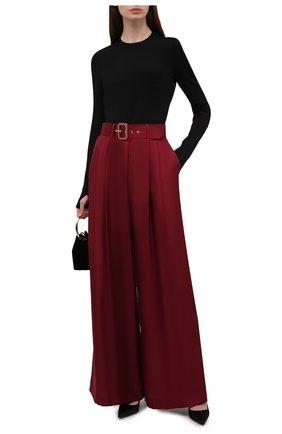 Женские шелковые брюки ZIMMERMANN бордового цвета, арт. 2143PC0N   Фото 2 (Длина (брюки, джинсы): Стандартные; Материал внешний: Шелк; Стили: Гламурный; Женское Кросс-КТ: Брюки-одежда; Силуэт Ж (брюки и джинсы): Широкие)