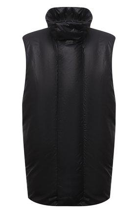 Мужской пуховый жилет KAZUYUKI KUMAGAI черного цвета, арт. VD12-321 | Фото 1 (Материал утеплителя: Пух и перо; Материал подклада: Синтетический материал; Материал внешний: Синтетический материал; Стили: Минимализм; Кросс-КТ: Куртка, Пуховик; Длина (верхняя одежда): Короткие)