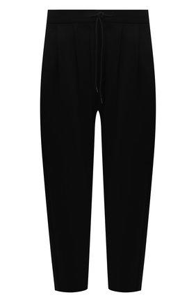 Мужские брюки KAZUYUKI KUMAGAI черного цвета, арт. AP12-246 | Фото 1 (Материал внешний: Синтетический материал, Вискоза; Случай: Повседневный; Стили: Минимализм; Длина (брюки, джинсы): Укороченные)
