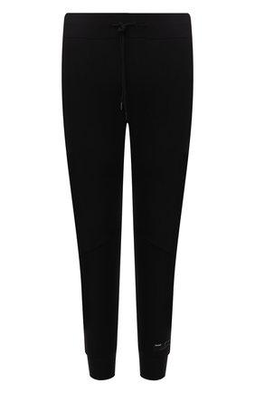 Мужские джоггеры KAZUYUKI KUMAGAI черного цвета, арт. AP12-250 | Фото 1 (Материал внешний: Синтетический материал; Силуэт М (брюки): Джоггеры; Стили: Спорт-шик; Длина (брюки, джинсы): Укороченные)