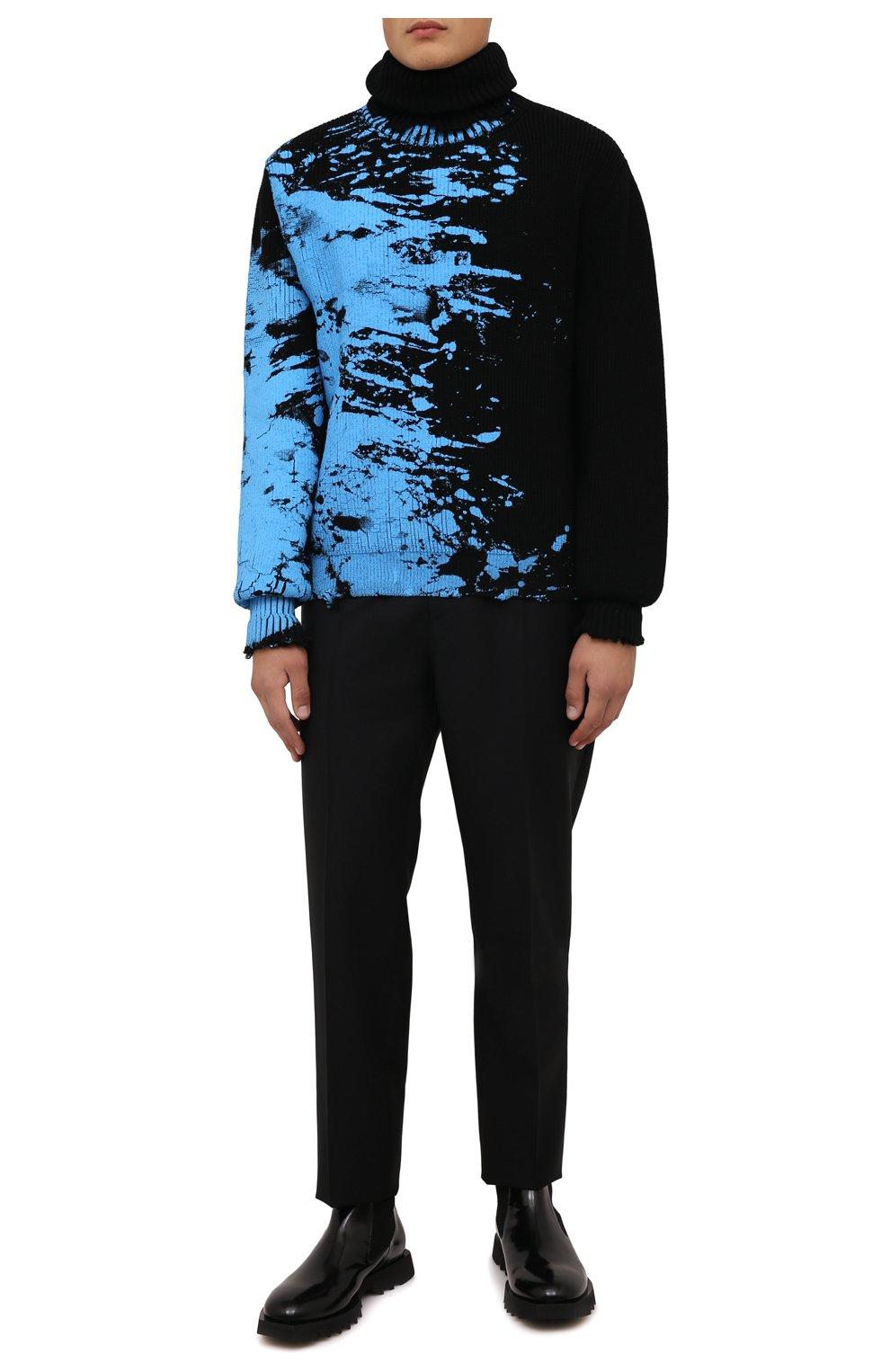 Мужские кожаные челси ATTIMONELLI'S черного цвета, арт. AA642 | Фото 2 (Материал внутренний: Натуральная кожа; Подошва: Плоская; Мужское Кросс-КТ: Сапоги-обувь, Челси-обувь)