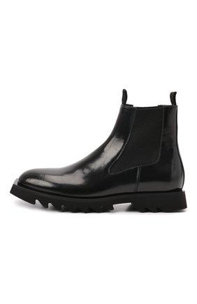 Мужские кожаные челси ATTIMONELLI'S черного цвета, арт. AA642 | Фото 3 (Материал внутренний: Натуральная кожа; Подошва: Плоская; Мужское Кросс-КТ: Сапоги-обувь, Челси-обувь)