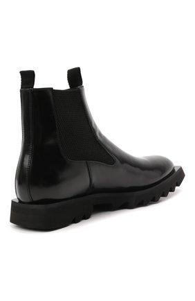Мужские кожаные челси ATTIMONELLI'S черного цвета, арт. AA642 | Фото 4 (Материал внутренний: Натуральная кожа; Подошва: Плоская; Мужское Кросс-КТ: Сапоги-обувь, Челси-обувь)