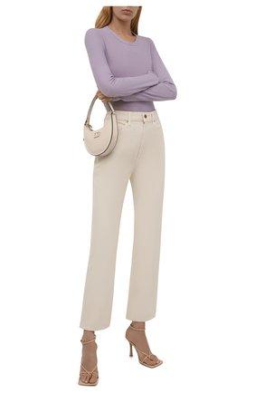 Женская хлопковый лонгслив JAMES PERSE сиреневого цвета, арт. WUA3361   Фото 2 (Материал внешний: Хлопок; Стили: Минимализм; Рукава: Длинные; Принт: Без принта; Женское Кросс-КТ: Лонгслив-одежда; Длина (для топов): Стандартные)