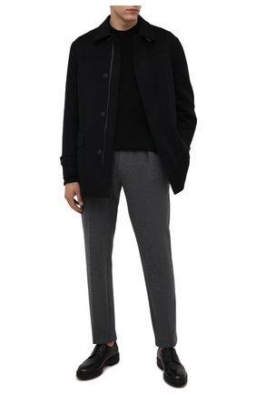 Мужские кожаные дерби ZILLI черного цвета, арт. MDS-A071/012 | Фото 2 (Стили: Классический; Материал внутренний: Текстиль)