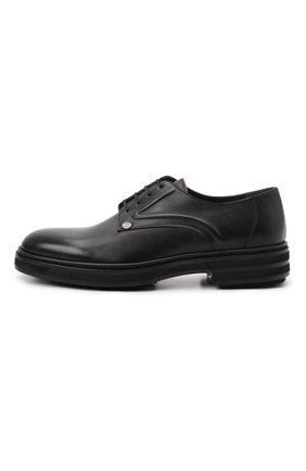 Мужские кожаные дерби ZILLI черного цвета, арт. MDS-A071/012 | Фото 3 (Стили: Классический; Материал внутренний: Текстиль)
