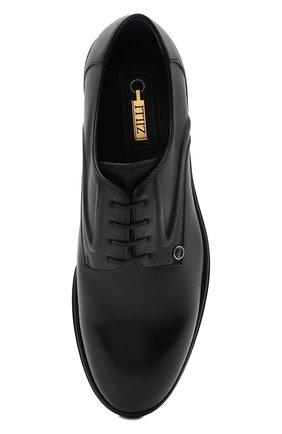 Мужские кожаные дерби ZILLI черного цвета, арт. MDS-A071/012 | Фото 5 (Стили: Классический; Материал внутренний: Текстиль)