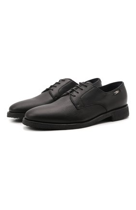 Мужские кожаные дерби ZILLI черного цвета, арт. MDW-A092/002 | Фото 1 (Материал внутренний: Натуральная кожа; Стили: Классический)