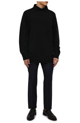 Мужские кожаные дерби ZILLI черного цвета, арт. MDW-A092/002 | Фото 2 (Материал внутренний: Натуральная кожа; Стили: Классический)