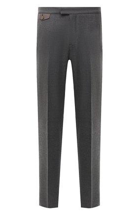 Мужские шерстяные брюки ZILLI серого цвета, арт. M0W-40-38P-F6415/0001 | Фото 1 (Материал подклада: Купро; Материал внешний: Шерсть; Стили: Классический; Случай: Формальный; Длина (брюки, джинсы): Стандартные)