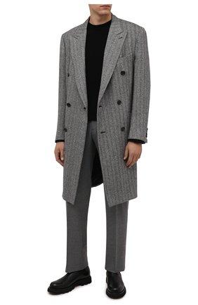 Мужские шерстяные брюки ZILLI серого цвета, арт. M0W-40-38P-F6415/0001 | Фото 2 (Материал подклада: Купро; Материал внешний: Шерсть; Стили: Классический; Случай: Формальный; Длина (брюки, джинсы): Стандартные)