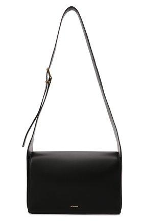 Женская сумка sling JIL SANDER черного цвета, арт. JSWT852618-WTB69161N   Фото 1 (Размер: medium; Материал: Натуральная кожа; Ремень/цепочка: На ремешке; Сумки-технические: Сумки через плечо)