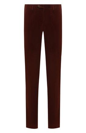 Мужские хлопковые брюки CORNELIANI коричневого цвета, арт. 884B01-1818502/02 | Фото 1 (Материал внешний: Хлопок; Длина (брюки, джинсы): Стандартные; Случай: Повседневный; Стили: Кэжуэл)
