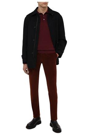Мужские хлопковые брюки CORNELIANI коричневого цвета, арт. 884B01-1818502/02 | Фото 2 (Материал внешний: Хлопок; Длина (брюки, джинсы): Стандартные; Случай: Повседневный; Стили: Кэжуэл)