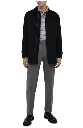 Мужская хлопковая рубашка CORNELIANI голубого цвета, арт. 88P156-1811538/00 | Фото 2 (Материал внешний: Хлопок; Случай: Повседневный; Принт: Клетка; Рукава: Длинные; Рубашки М: Slim Fit; Манжеты: На пуговицах; Воротник: Акула; Стили: Кэжуэл; Длина (для топов): Стандартные)