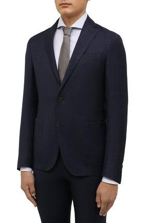 Мужской шерстяной костюм CORNELIANI темно-синего цвета, арт. 88N700-1817404/92 | Фото 2 (Материал подклада: Синтетический материал; Материал внешний: Шерсть; Рукава: Длинные; 1-2-бортные: Однобортные; Стили: Классический)