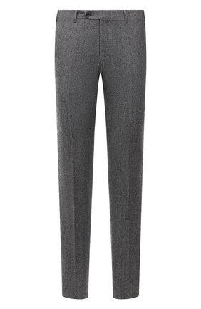 Мужские шерстяные брюки CORNELIANI серого цвета, арт. 885B01-1817226/02 | Фото 1 (Материал внешний: Шерсть; Материал подклада: Вискоза; Случай: Формальный; Стили: Классический; Длина (брюки, джинсы): Стандартные)