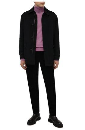 Мужские хлопковые брюки CORNELIANI черного цвета, арт. 884L01-1818502/00 | Фото 2 (Материал внешний: Хлопок; Случай: Повседневный; Стили: Кэжуэл; Длина (брюки, джинсы): Стандартные)