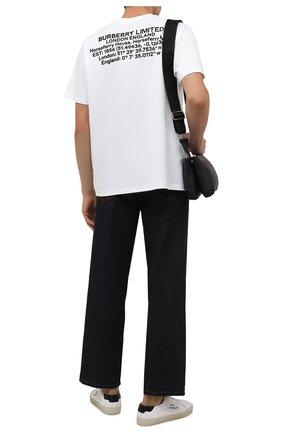 Мужская хлопковая футболка BURBERRY белого цвета, арт. 8045545 | Фото 2 (Материал внешний: Хлопок; Длина (для топов): Стандартные; Рукава: Короткие; Принт: С принтом; Стили: Кэжуэл)