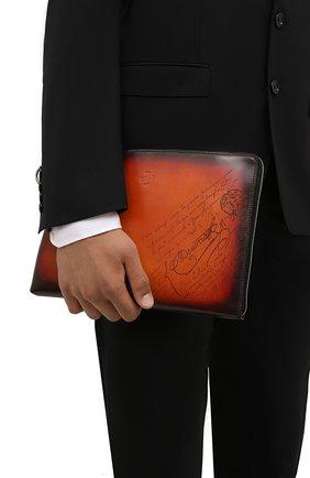 Мужская кожаная папка для документов BERLUTI оранжевого цвета, арт. M224712 | Фото 2 (Материал: Натуральная кожа)