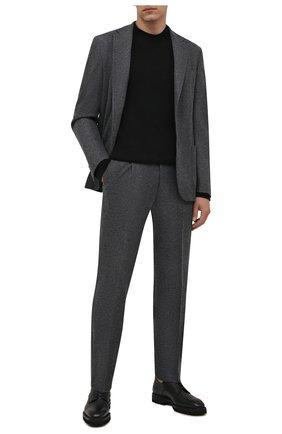 Мужские кожаные дерби W.GIBBS черного цвета, арт. 6358003/2568 | Фото 2 (Материал внутренний: Текстиль; Стили: Классический)