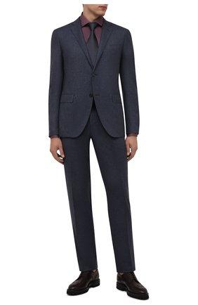 Мужские кожаные дерби W.GIBBS темно-бордового цвета, арт. 7260001/2248 | Фото 2 (Материал внутренний: Натуральная кожа; Стили: Классический; Мужское Кросс-КТ: Броги-обувь)