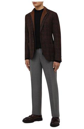 Мужские кожаные монки W.GIBBS темно-бордового цвета, арт. 7260005/2248 | Фото 2 (Материал внутренний: Натуральная кожа; Стили: Классический)