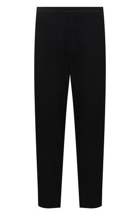Мужские брюки из вискозы BALENCIAGA черного цвета, арт. 675490/TJ025   Фото 1 (Материал внешний: Вискоза; Длина (брюки, джинсы): Стандартные; Случай: Повседневный; Стили: Спорт-шик)